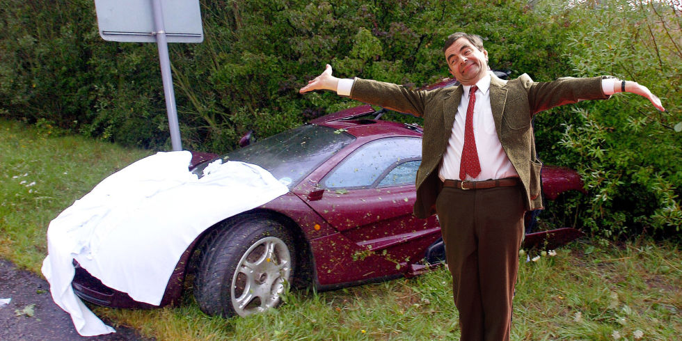You Can Buy Mr Bean 39 S Twice Wrecked Daily Driver Mclaren F1