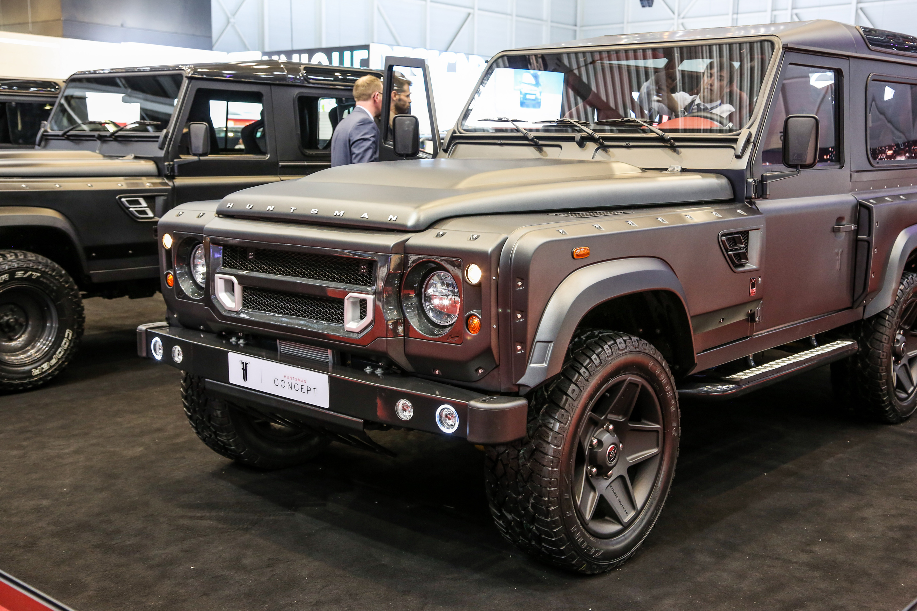 the 6x6 land rover defender is just so weird looking. Black Bedroom Furniture Sets. Home Design Ideas