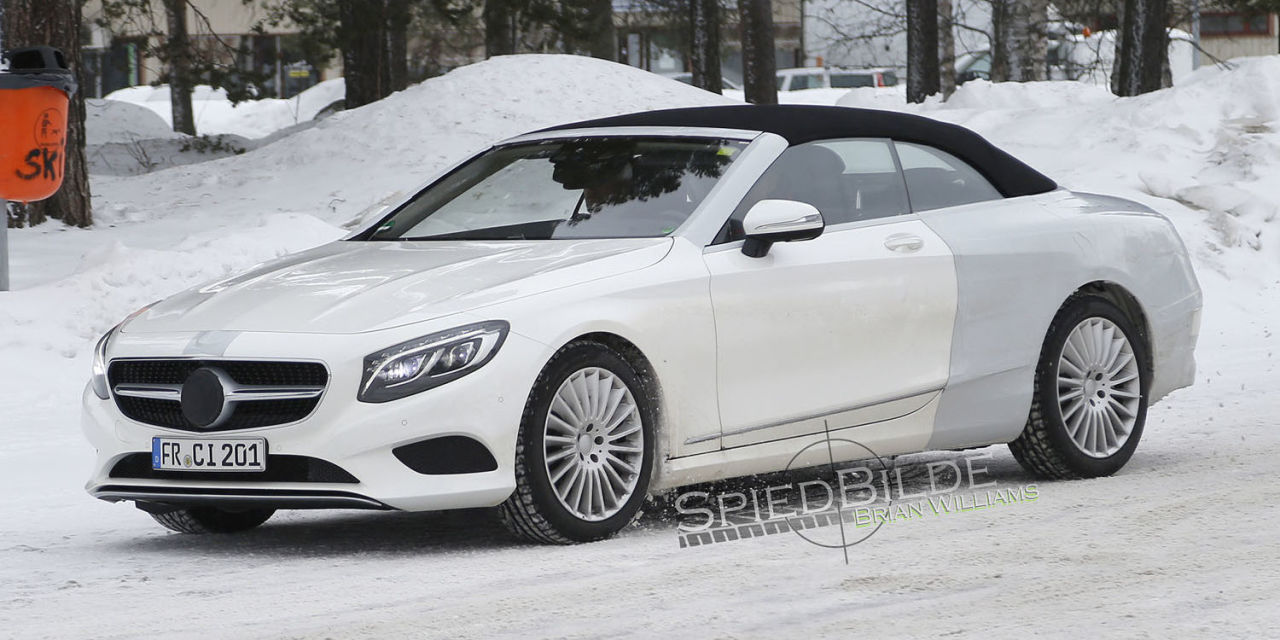 Mercedes Benz S Class Cabrio Spied Cold Weather Testing