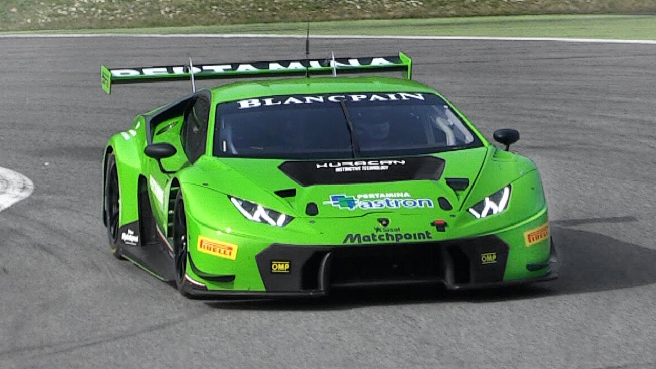 watch the lamborghini huracan gt3 whip around monza. Black Bedroom Furniture Sets. Home Design Ideas