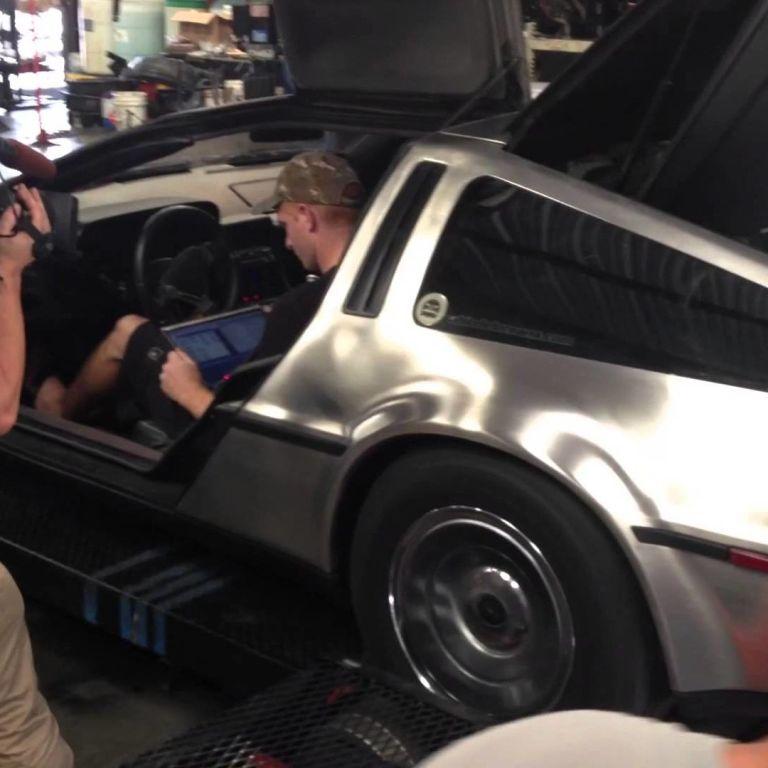 Watch this LS1 V8-powered DeLorean DMC12 rock a dyno