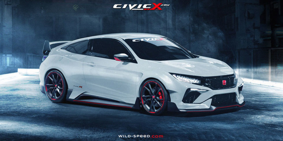 civic enthusiast site renders killer honda civic type r. Black Bedroom Furniture Sets. Home Design Ideas