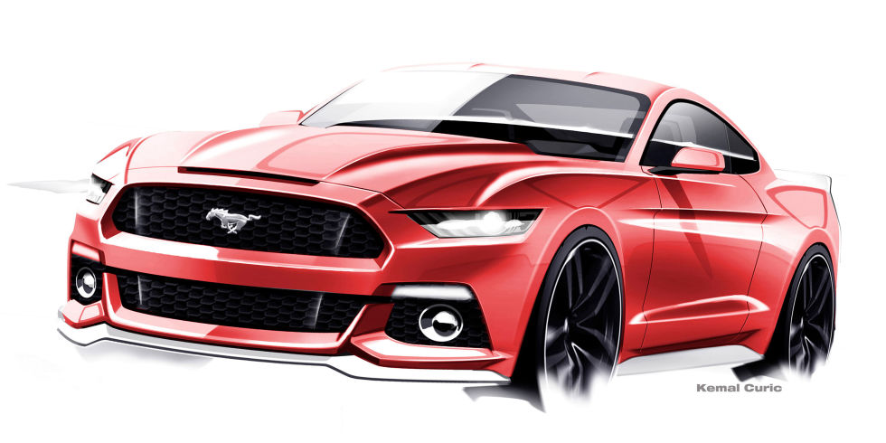 The evolving design themes of the 2015 Ford Mustang