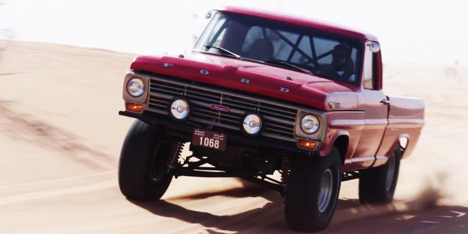 Watch A 1972 Ford Prerunner Thrash The Dunes In Dubai
