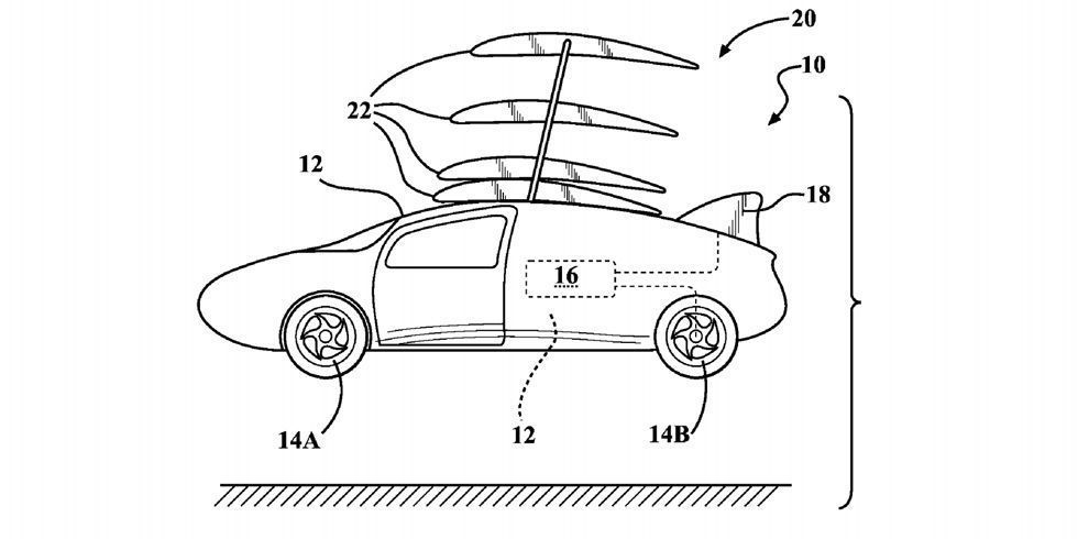 toyota patents silly flying car with stackable wings