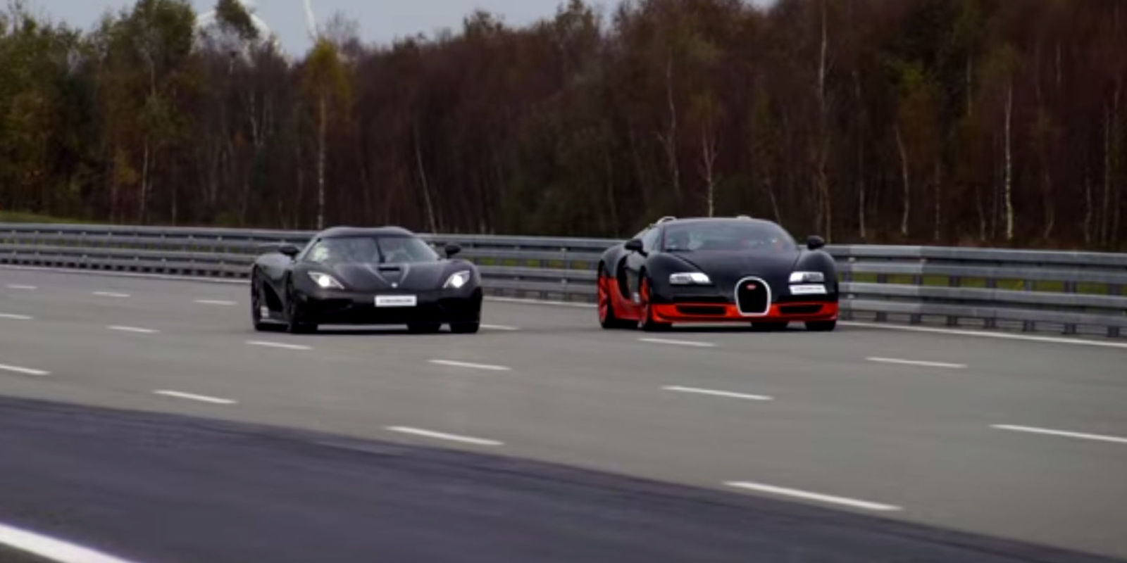 watch a bugatti veyron do battle with a koenigsegg agera r. Black Bedroom Furniture Sets. Home Design Ideas