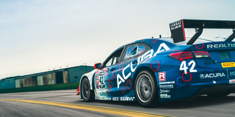 This acura tlx gt race car has the guts to brawl with ferraris for Airport motor mile used cars