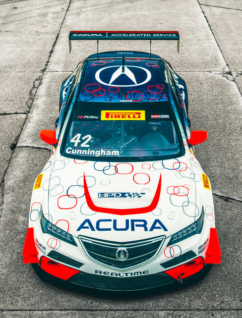 This acura tlx gt race car has the guts to brawl with ferraris for Honda airport motor mile