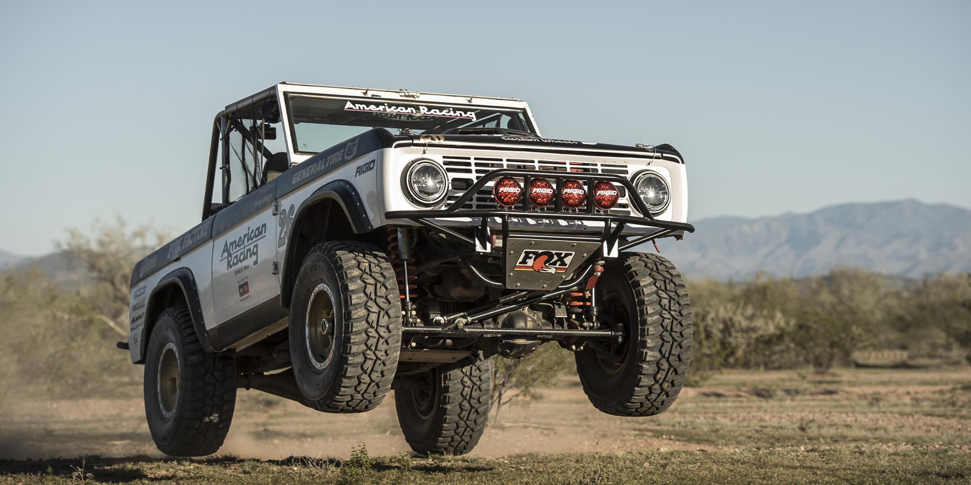 Vintage Bronco Desert Racing