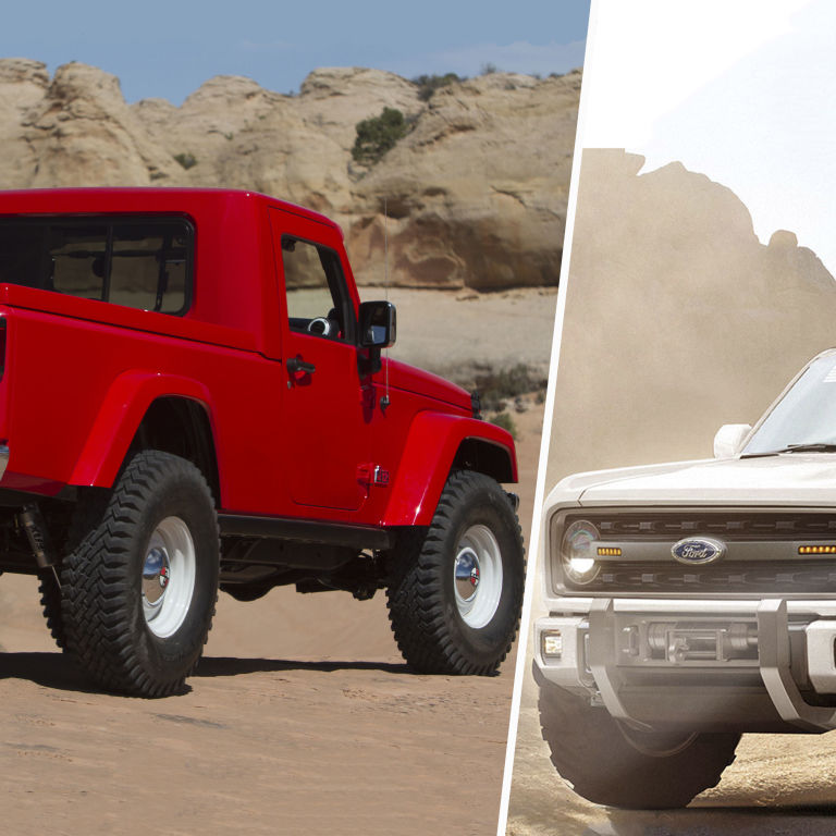 jeep wrangler pickup   ford bronco  daydream