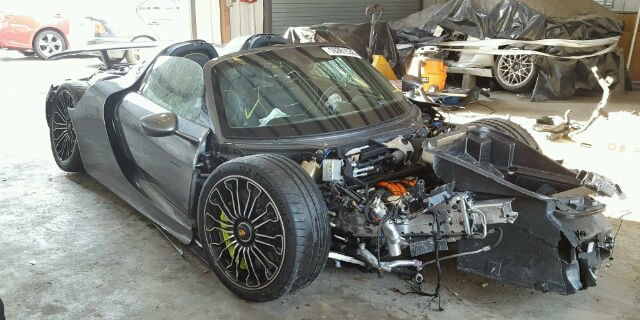for sale lightly used porsche 918 spyder only 92 miles needs tlc. Black Bedroom Furniture Sets. Home Design Ideas