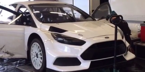 look and listen as ken block tests his rallycross ford focus rs. Black Bedroom Furniture Sets. Home Design Ideas