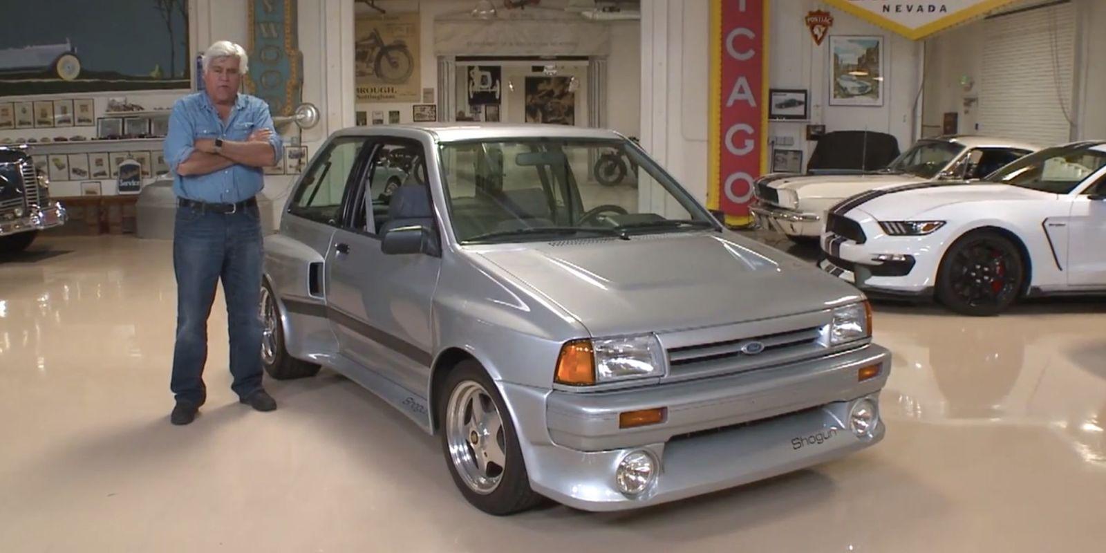Jay leno 39 s garage jay leno drives ford festiva shogun for Garage fiat paris 17