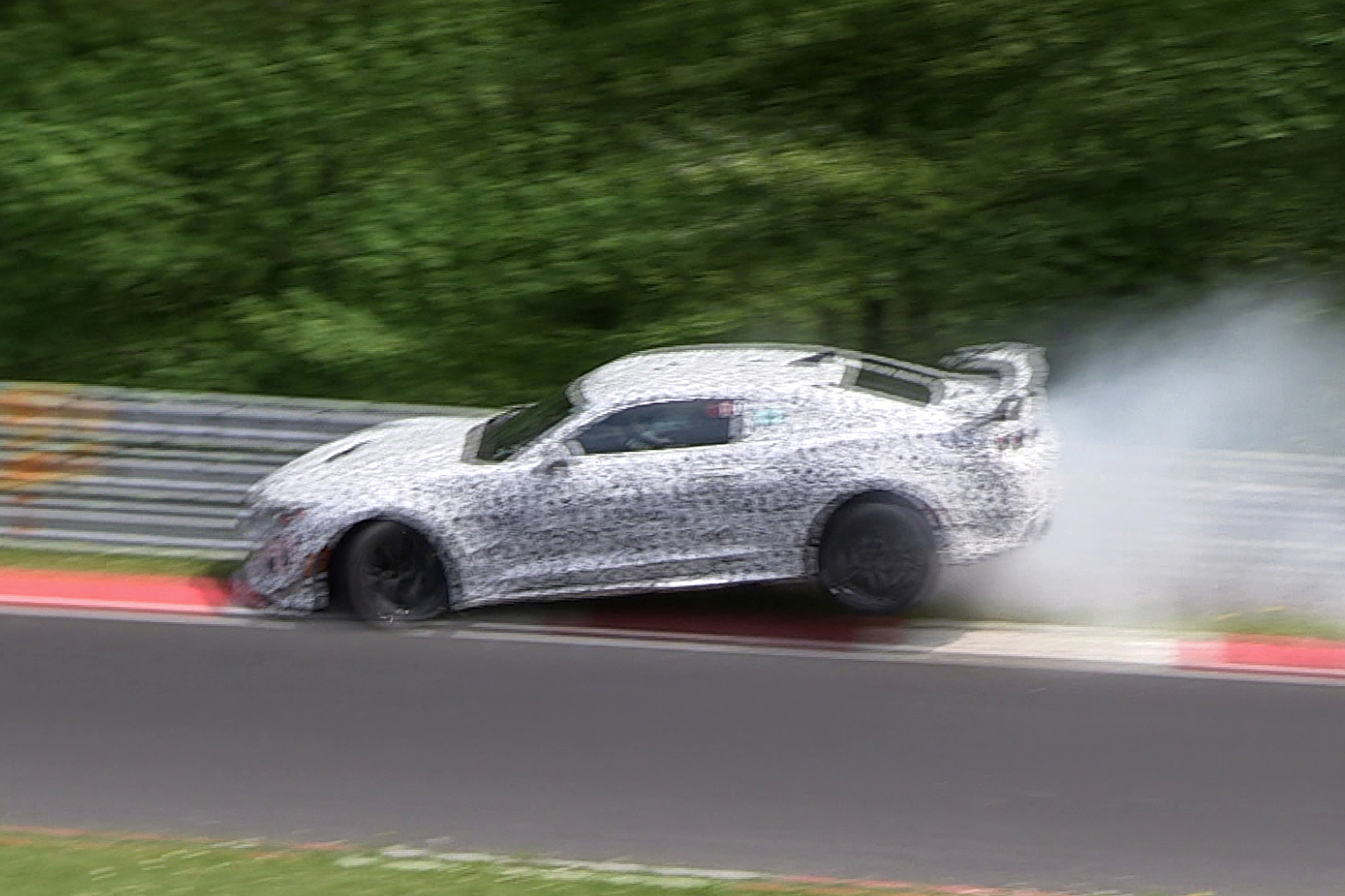 Chevrolet Camaro Prototype Crash Z 28 Crashes On Nurburgring