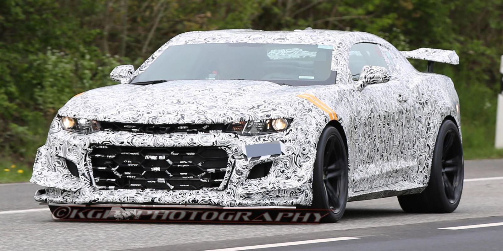 New Camaro Z28 Spied Testing At The Nurburgring