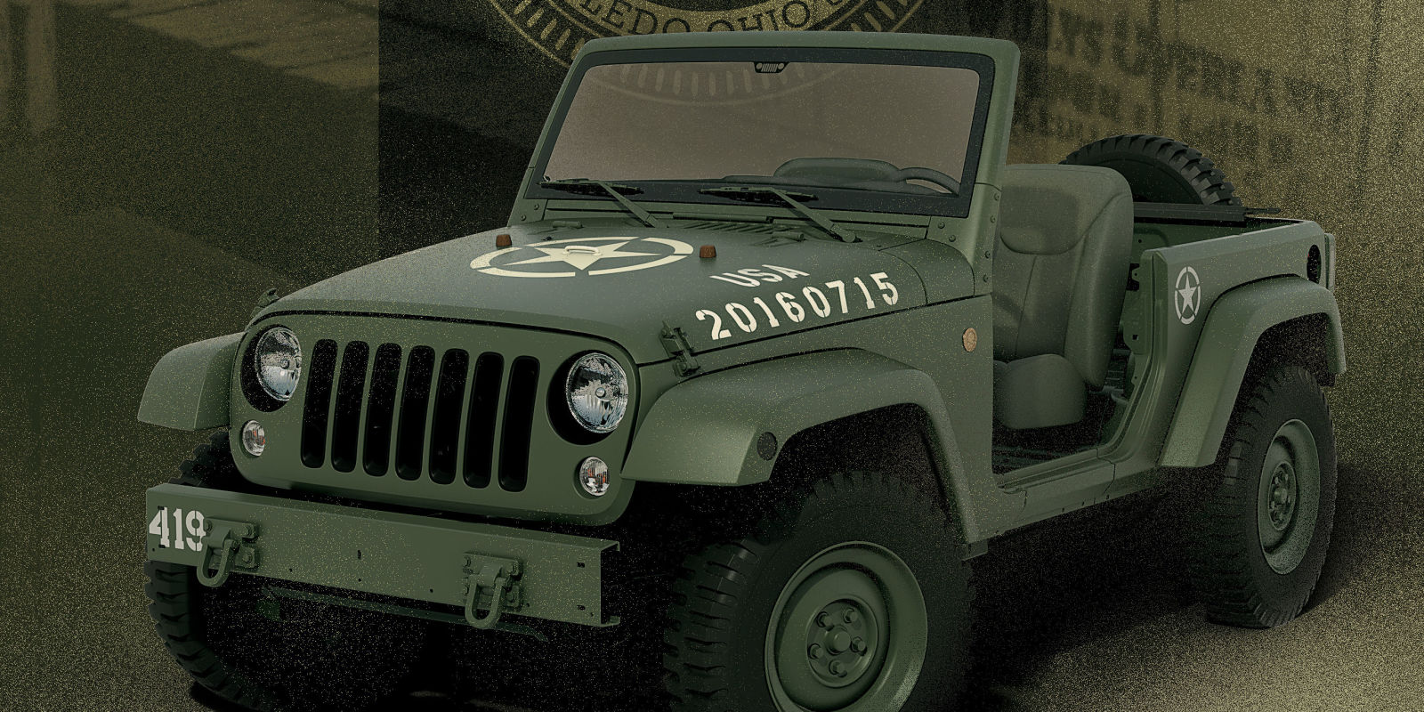 jeep 75th anniversary jeep wrangler concept celebrates 75 years of army jeeps. Cars Review. Best American Auto & Cars Review