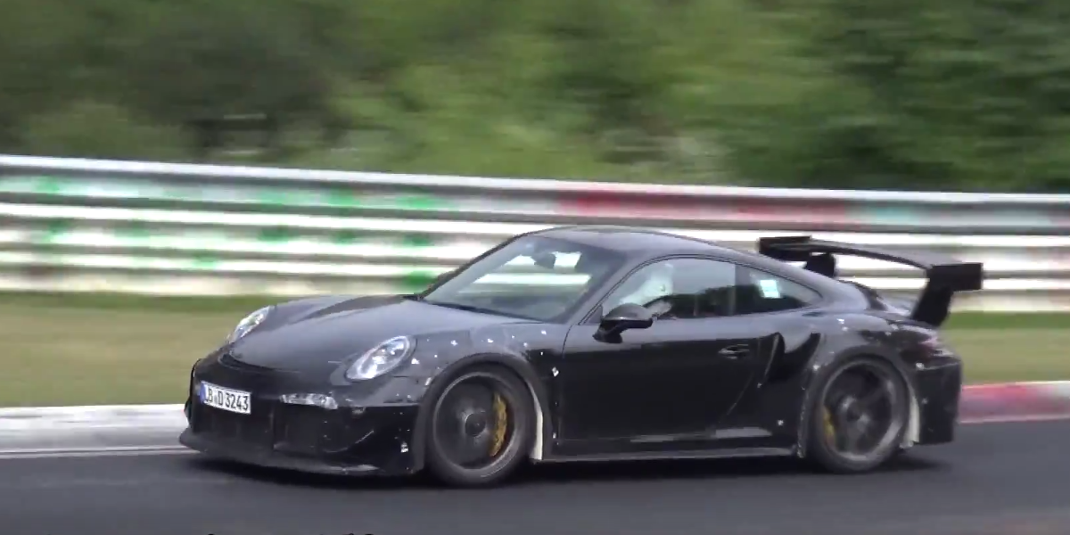 watch the new porsche 911 gt2 rs rip a hole through space. Black Bedroom Furniture Sets. Home Design Ideas