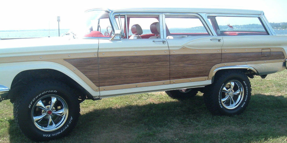 Sometimes you want a classic 1950s wagon but need a little more ground clearance than the stock car will give you. In that case, why not buy this Franken-Fairlane? It's jacked up, wood paneled, and ready for adventure. It'll cost you at least $3900, but the seller claims it's one of a kind.