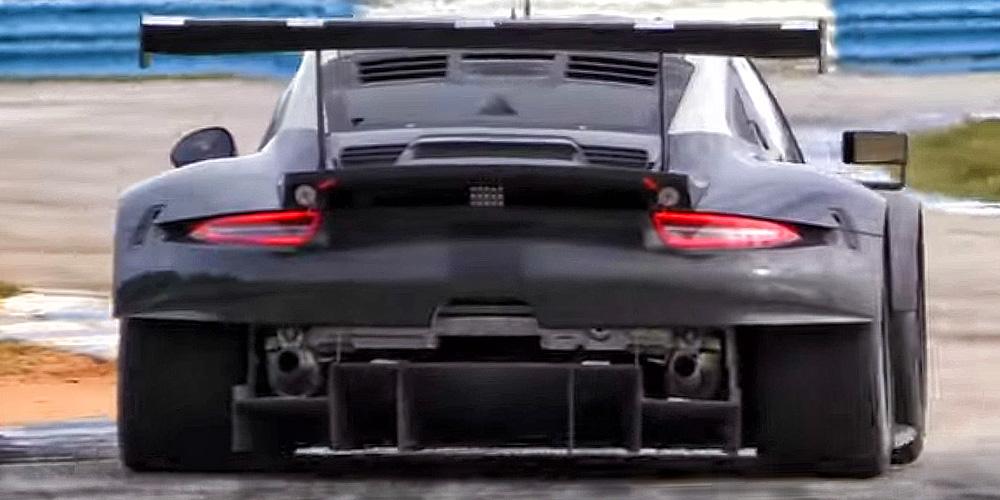 mid engine porsche 911 race car 2017 porsche 911 rsr rear end. Black Bedroom Furniture Sets. Home Design Ideas