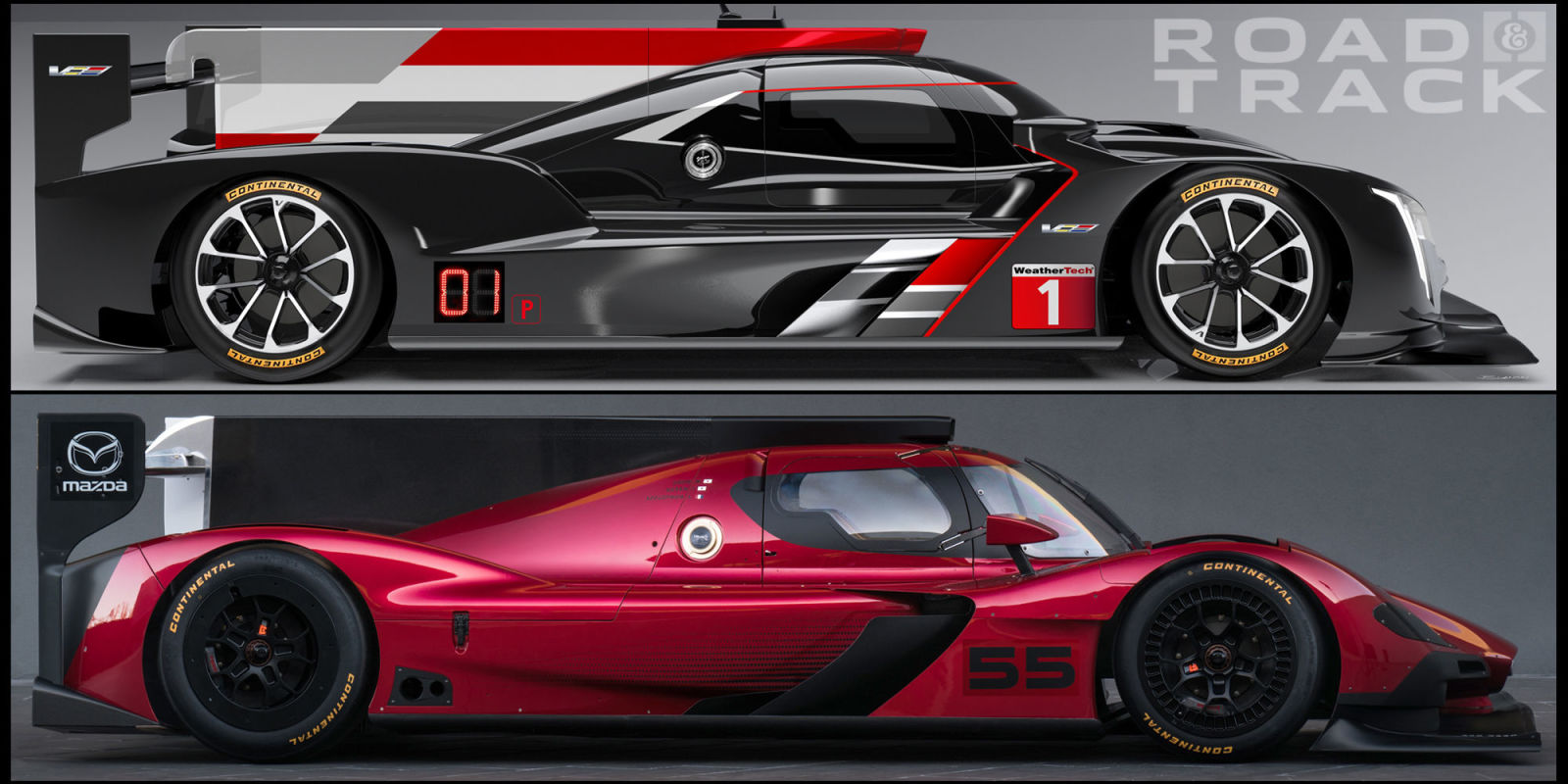how cadillac and mazda built vastly different racers for