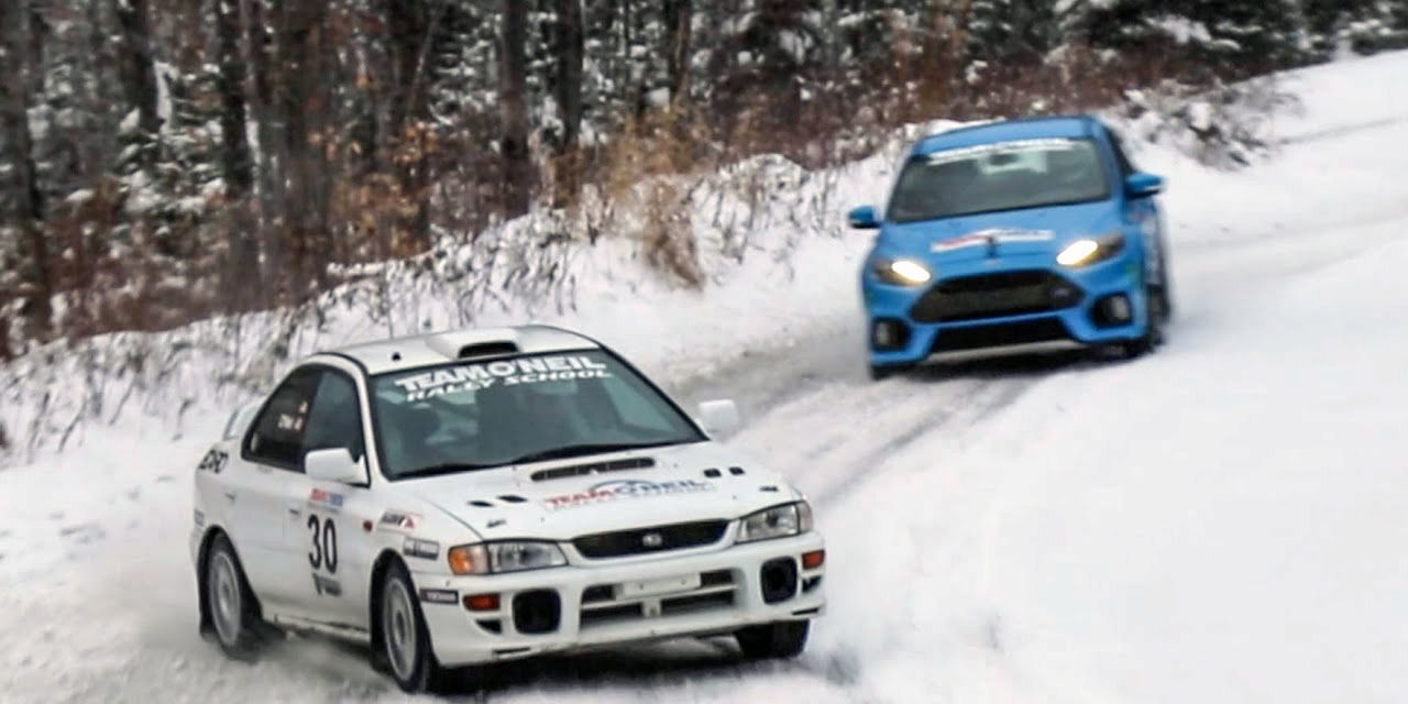 how does a ford focus rs compare to a prodrive built rally racer. Black Bedroom Furniture Sets. Home Design Ideas