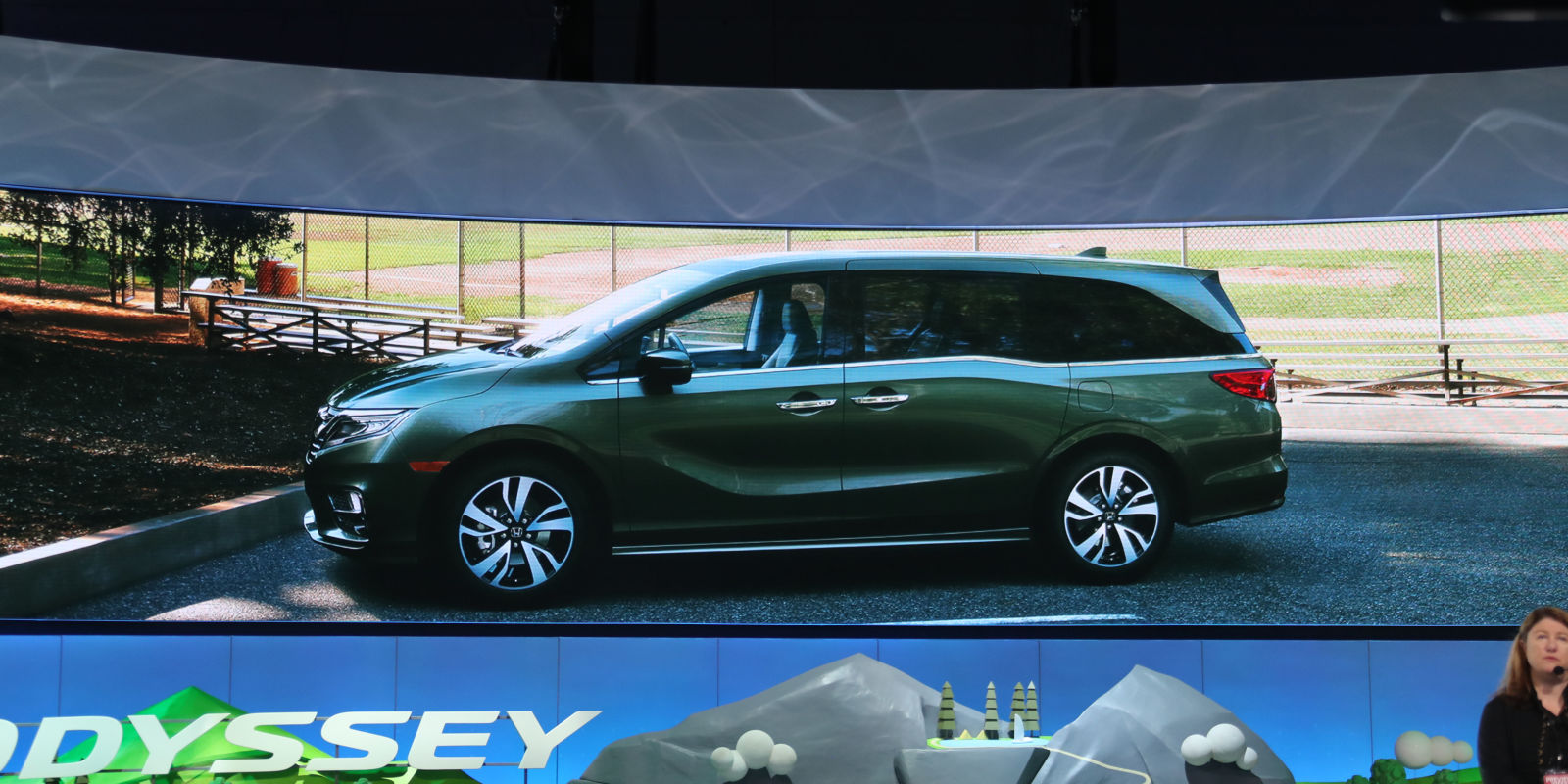 2018 honda odyssey new honda minivan revealed at naias 2017 for Detroit auto show honda odyssey