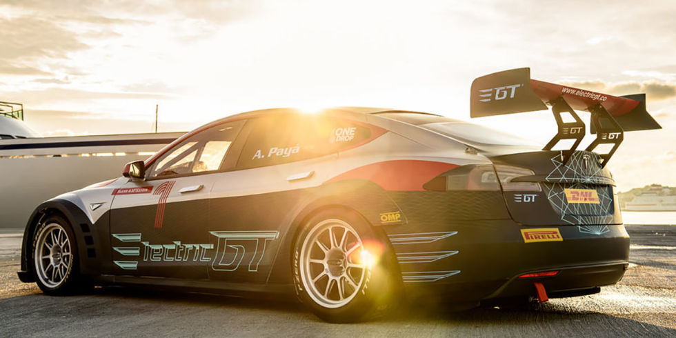 The World's First Tesla Race Car Does 0-60 in 2.1 Seconds