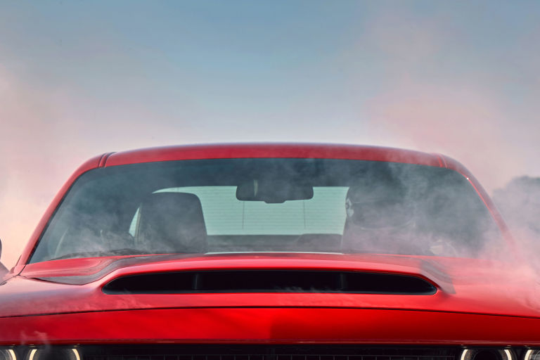 dodge claims these upgrades drop the demons air intake temperature by 30 degrees compared to the regular challenger hellcat - Challenger Hellcat