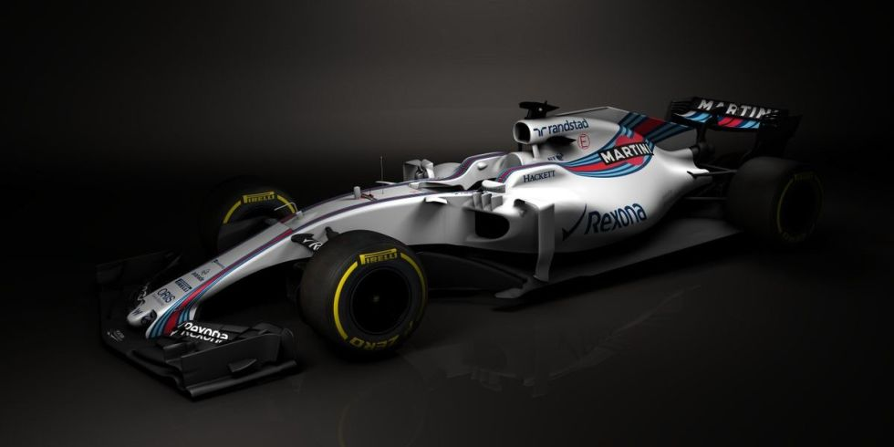This Is the Gorgeous Martini-Liveried Williams F1 Car for 2017
