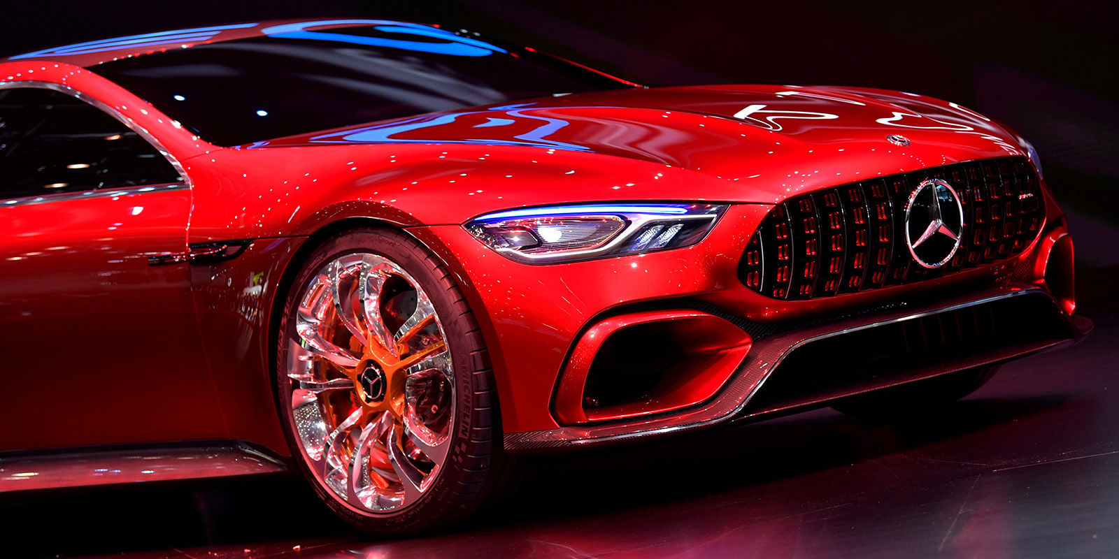 Mercedes amg 39 s four door sedan will hit production next year - Mercedes car show ...