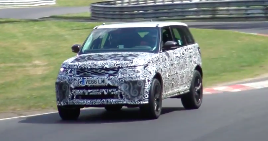Watch the Next Range Rover Sport SVR Roar Around the Nurburgring