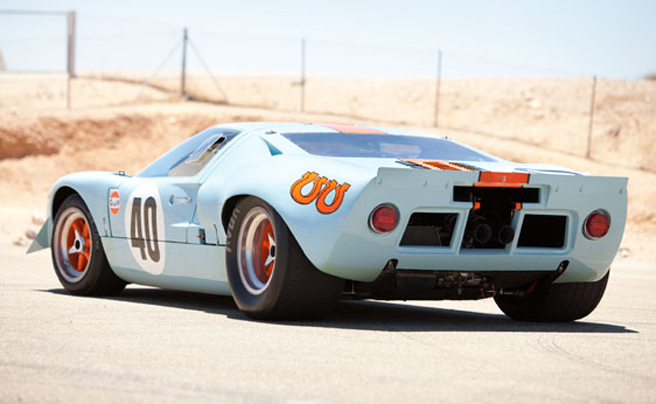 steve mcqueen le mans 1968 ford gt40 gulfmirage 2012 monterey auctions - 1966 Ford Gt40 Gulf