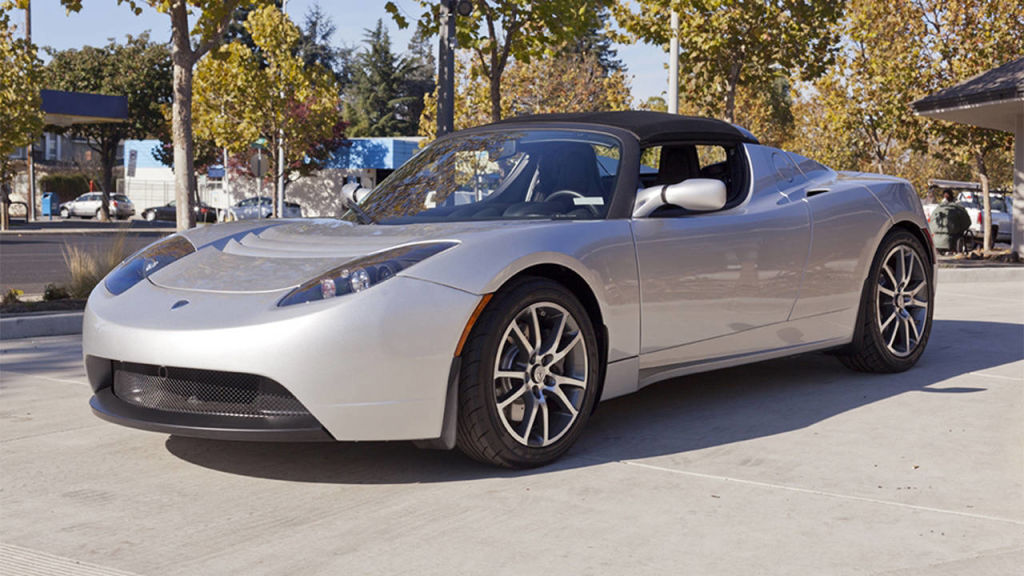 used tesla roadster and a handheld hydrogen charger   buy