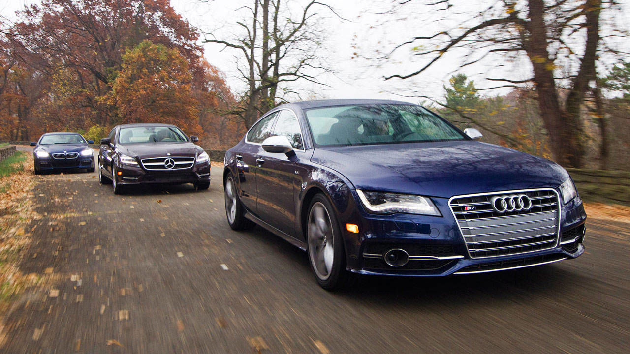 Photos 2013 audi s7 vs 2013 bmw 650i xdrive gran coupe for 2013 mercedes benz cls550