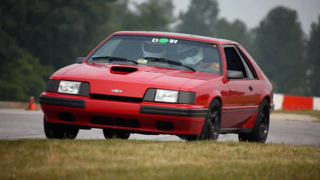 1986 mustang svo at vir   a turbocharged four cylinder mustang at