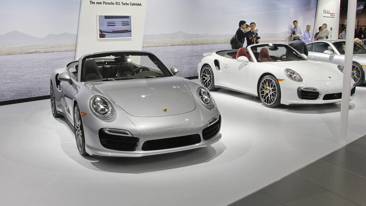 2015 porsche 911 turbo s cabriolet check out the latest turbo cabriolets from porsche from the 2013 la auto show at road track - 2015 Porsche 911 Turbo