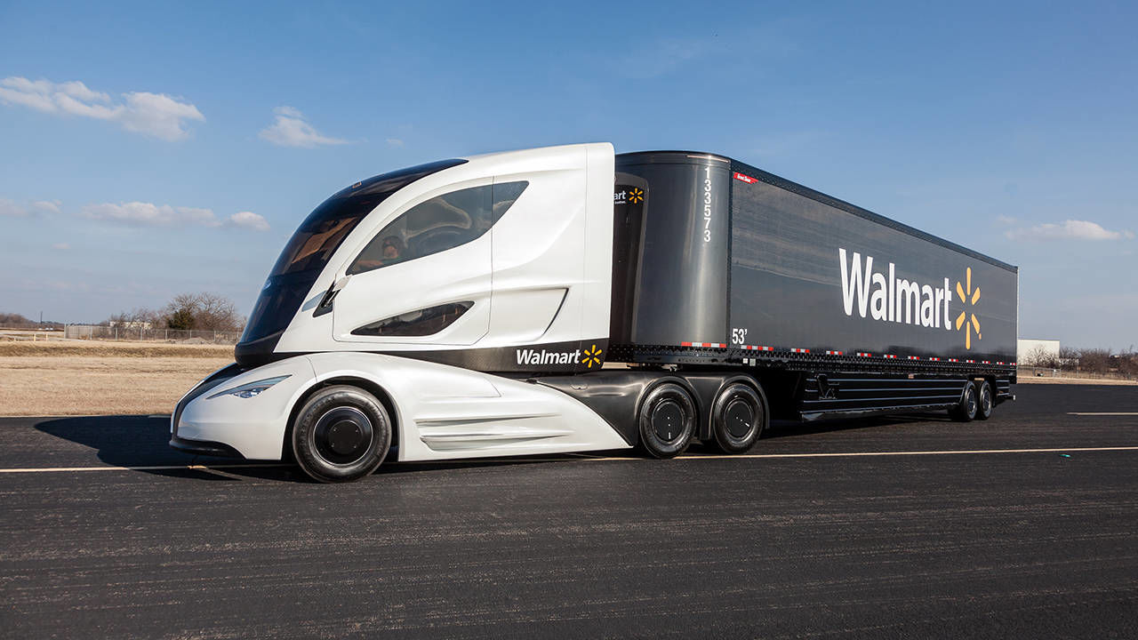 walmart builds turbine hybrid aero semi truck. Black Bedroom Furniture Sets. Home Design Ideas