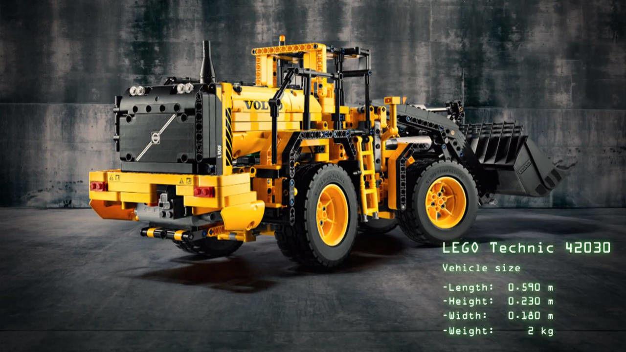 lego technic volvo wheel loader l350f video. Black Bedroom Furniture Sets. Home Design Ideas