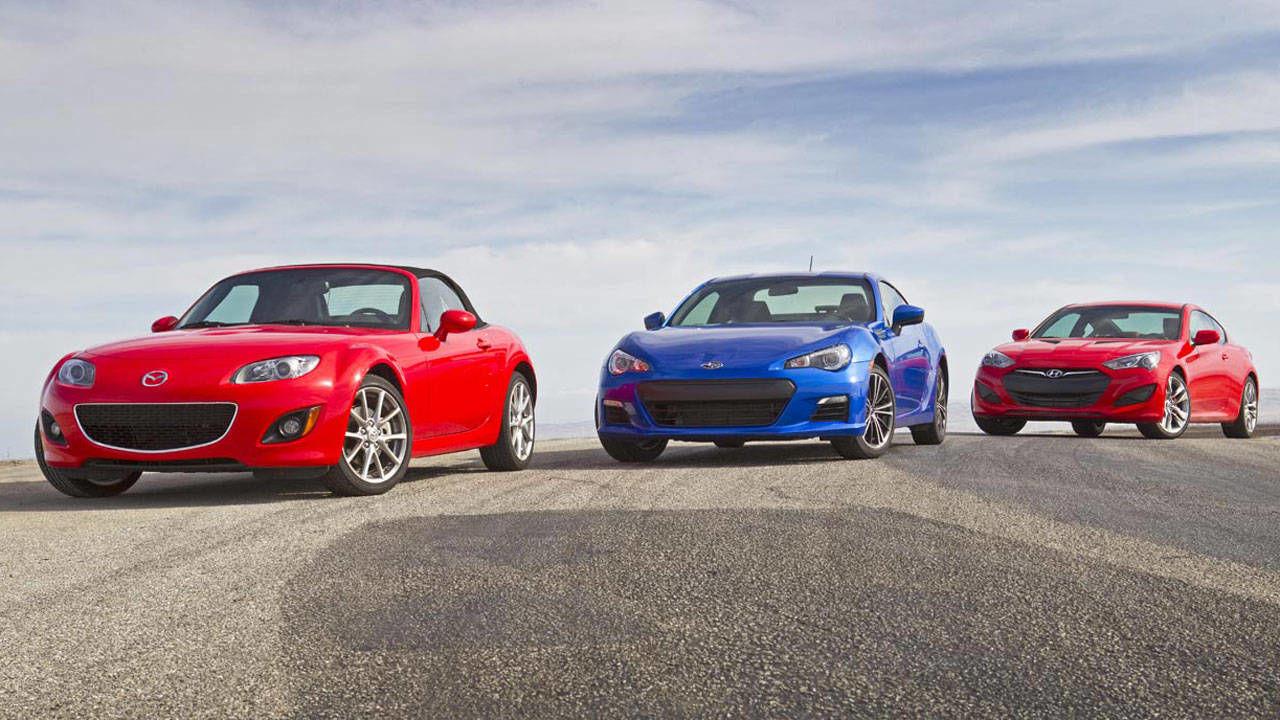 Rear-Drive Sports Coupes Under 30K Test - Mazda Miata vs ...