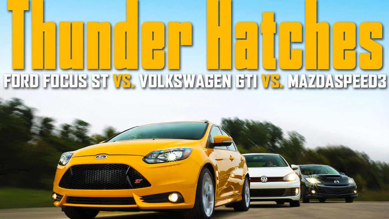 2013 ford focus st vs 2012 volkswagen gti vs 2012 mazdaspeed 3 hot hatchback comparison test. Black Bedroom Furniture Sets. Home Design Ideas
