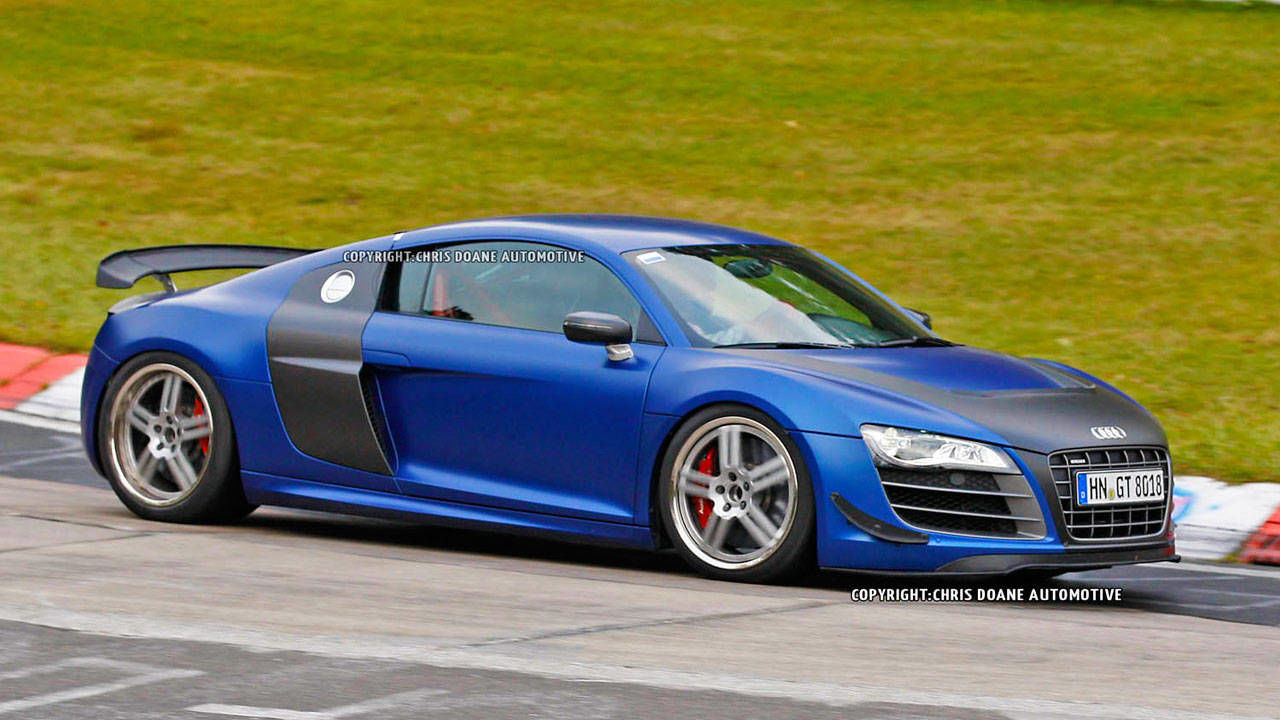 2013 audi r8 gt photos new r8 gt caught track testing in germany. Black Bedroom Furniture Sets. Home Design Ideas