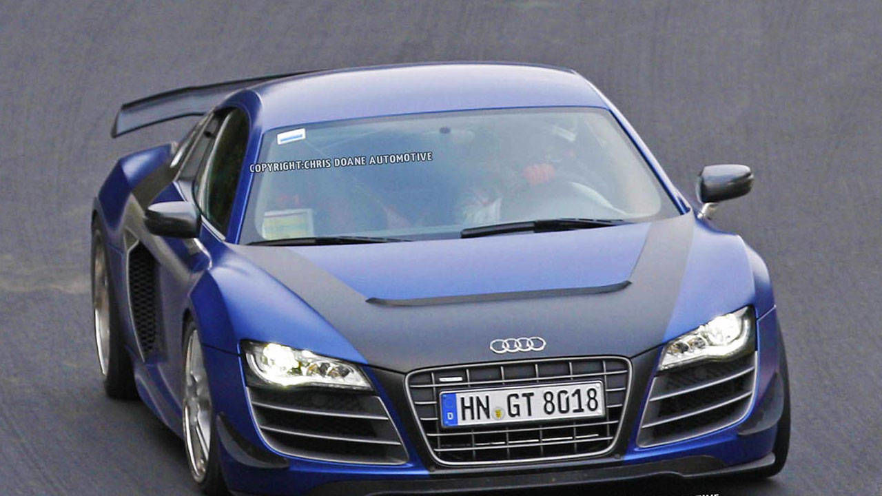 2013 Audi R8 GT Photos – New R8 GT Caught Track Testing in Germany – RoadandTrack.com