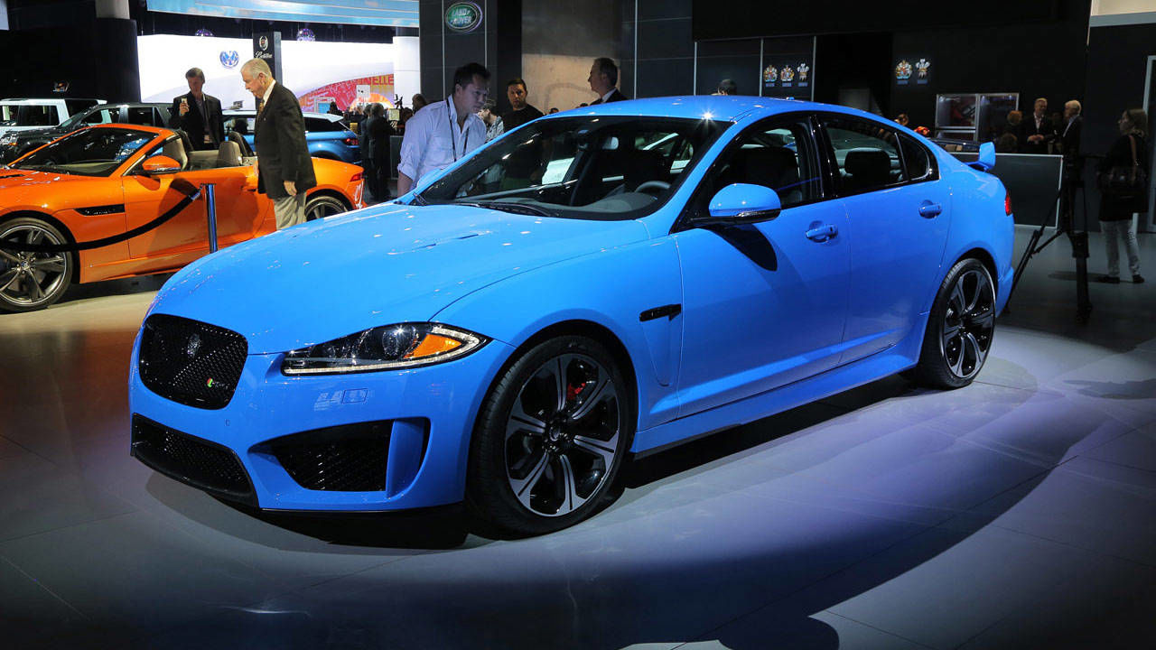 2014 jaguar xfr s sedan 2012 los angeles auto show jaguar s fastest 4 door. Black Bedroom Furniture Sets. Home Design Ideas