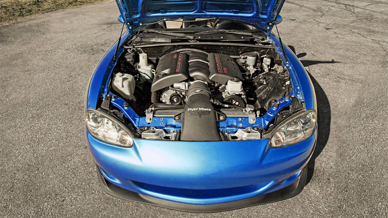 Flyin Miata Mazda Mx 5 V8 A V8 Powered Miata Is A Small