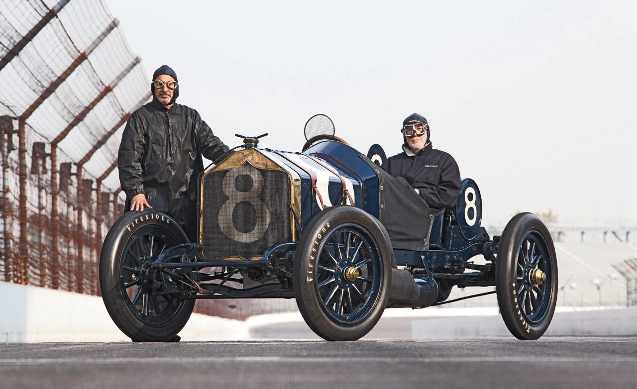 Photos bobby rahal drives the 1912 national for Bobby rahal mercedes benz