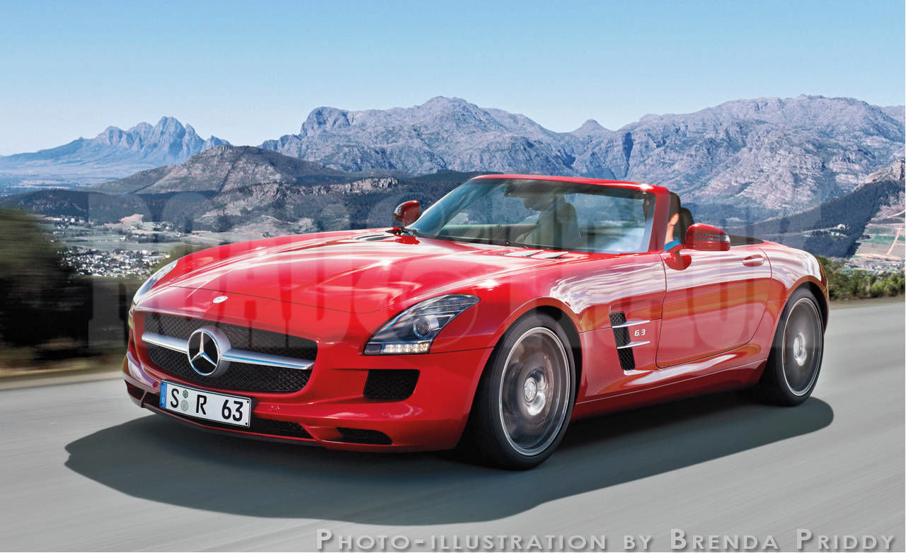 Sports cars of the future 2012 mercedes benz sls amg roadster for Sports car mercedes benz