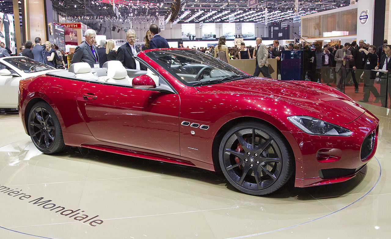2012 maserati granturismo convertible sport at 2011 geneva auto show. Black Bedroom Furniture Sets. Home Design Ideas