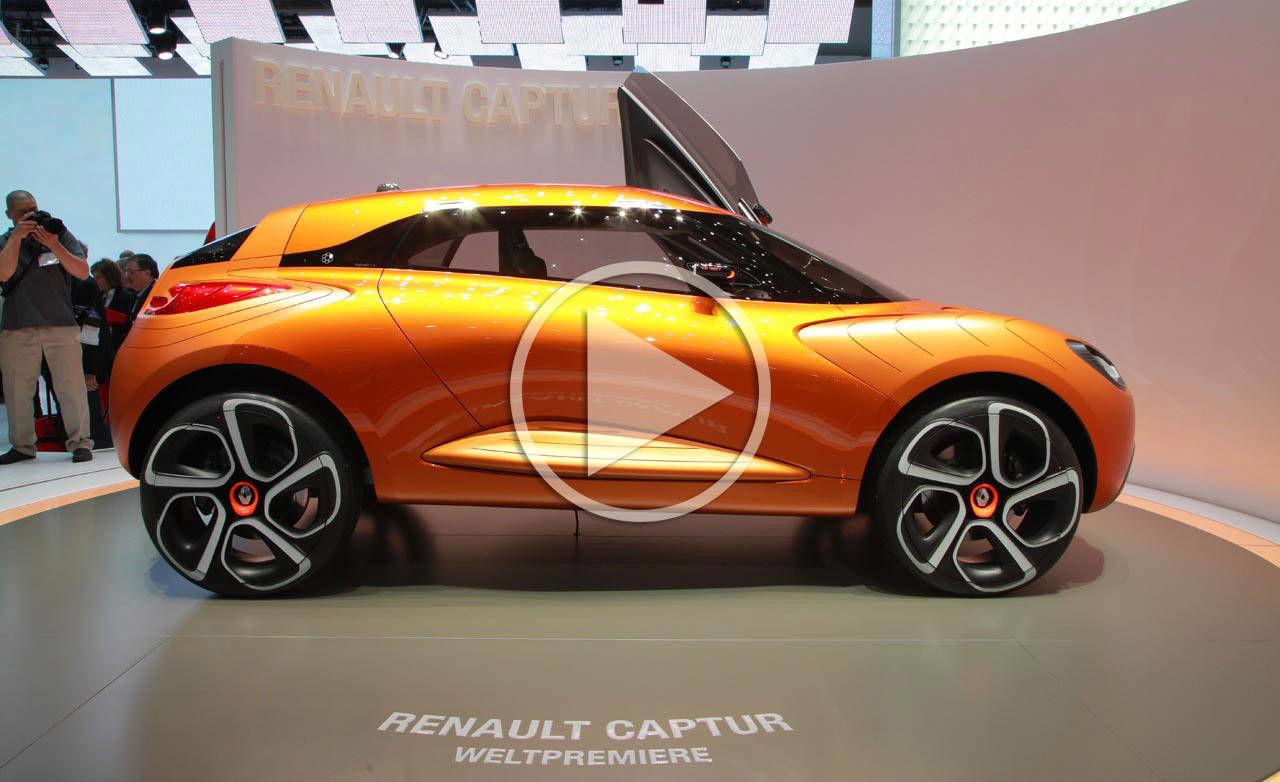 renault captur concept video reveal at 2011 geneva auto show. Black Bedroom Furniture Sets. Home Design Ideas
