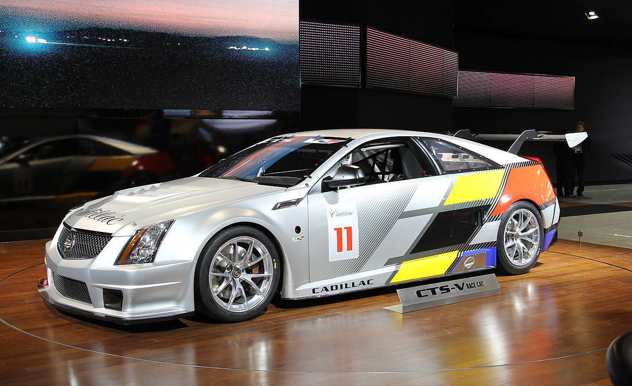 cadillac cts v coupe race car at 2011 detroit auto show. Black Bedroom Furniture Sets. Home Design Ideas