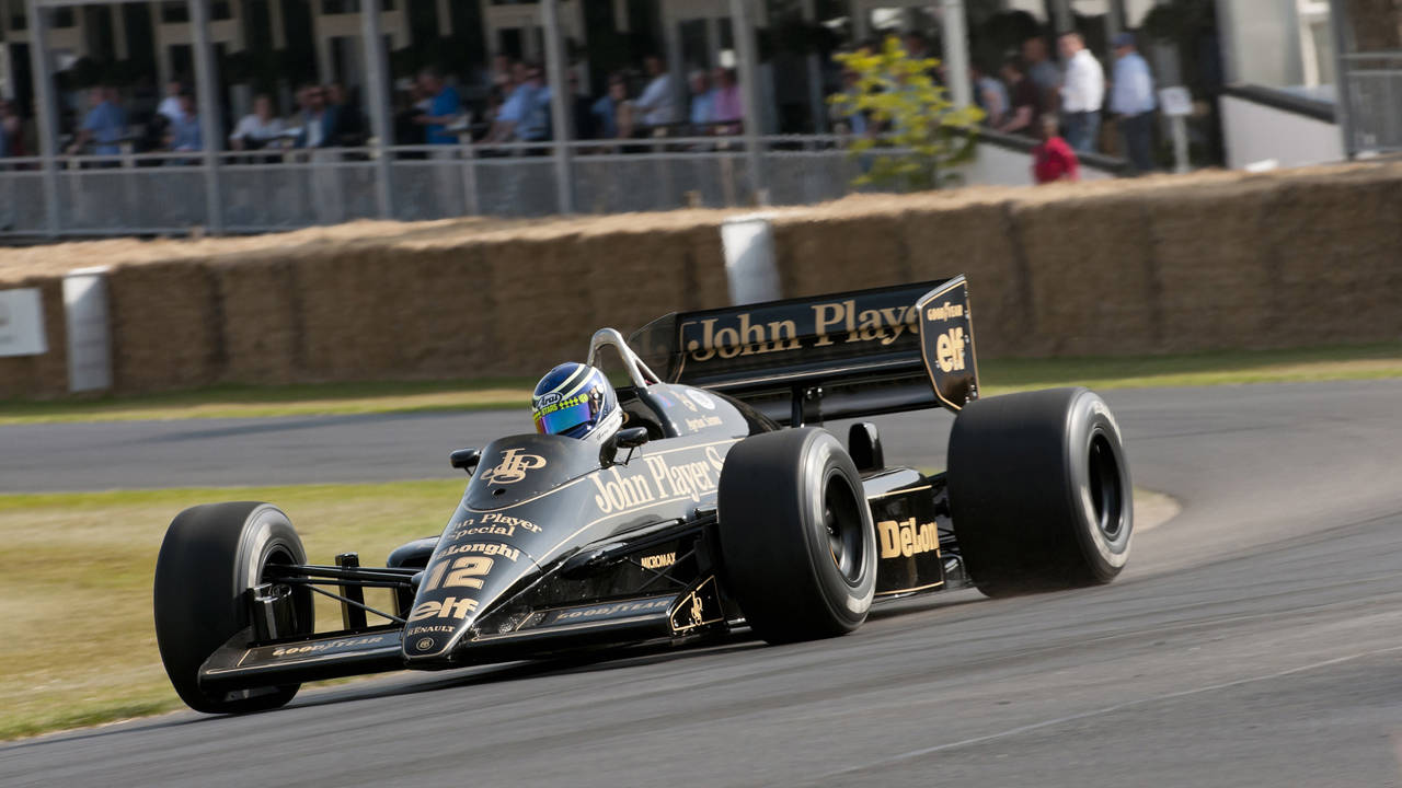 ayrton senna 39 s race car crashes at goodwood 2013 2013. Black Bedroom Furniture Sets. Home Design Ideas